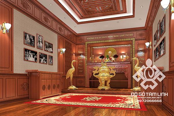 Thiết kế nội thất phòng thờ Bác Hồ
