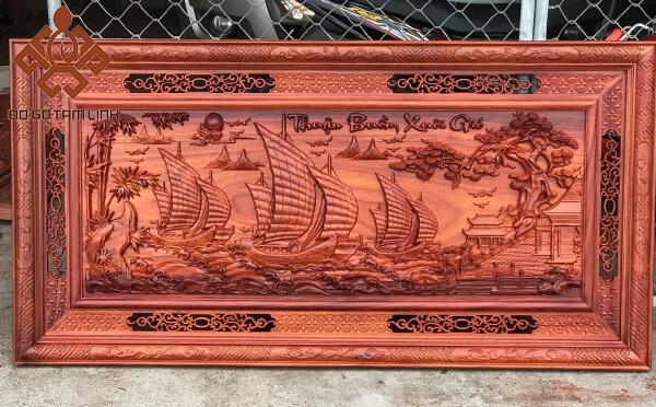 Mẫu tranh gỗ thuận buồm xuôi gió