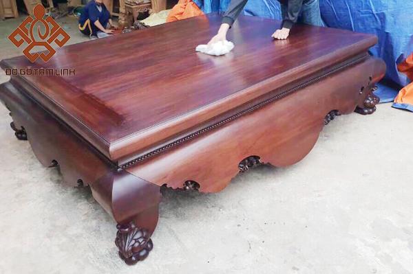 Sập gỗ trơn chân quỳ