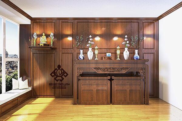 Bản thiết kế cho nội thất phòng thờ căn hộ chung cư