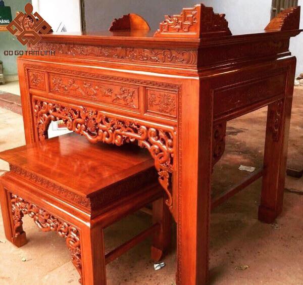 Mẫu bàn thờ Án gian hàng hoàn thiện