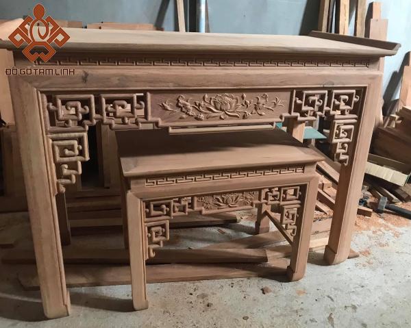 Sập thờ gỗ tự nhiên